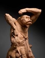 Gorilla abducting a gladiator