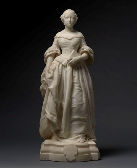 Miniature full-length portrait of Henriette de Chateaubriand, baronne de Carayon La Tour