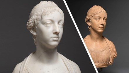 A pair of portrait busts of Clémentine Beugnot (1788-1840)