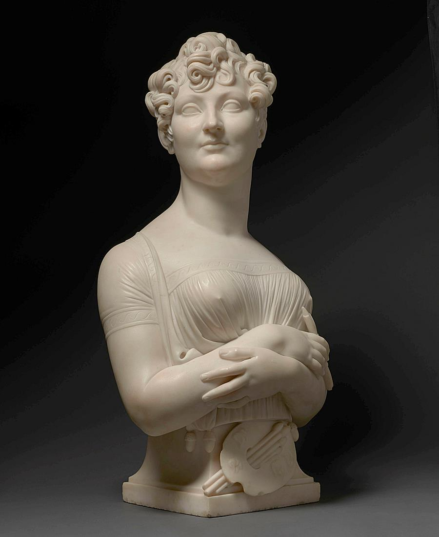 Bust of a female artist presumed to be Madame Constance-Marie Charpentier (1767-1849)