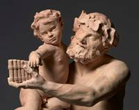 Silenus with the infant Bacchus ('Faune')