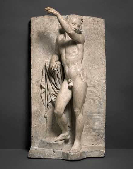 Male nude standing – an academic study