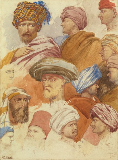 Study of Middle-Eastern heads