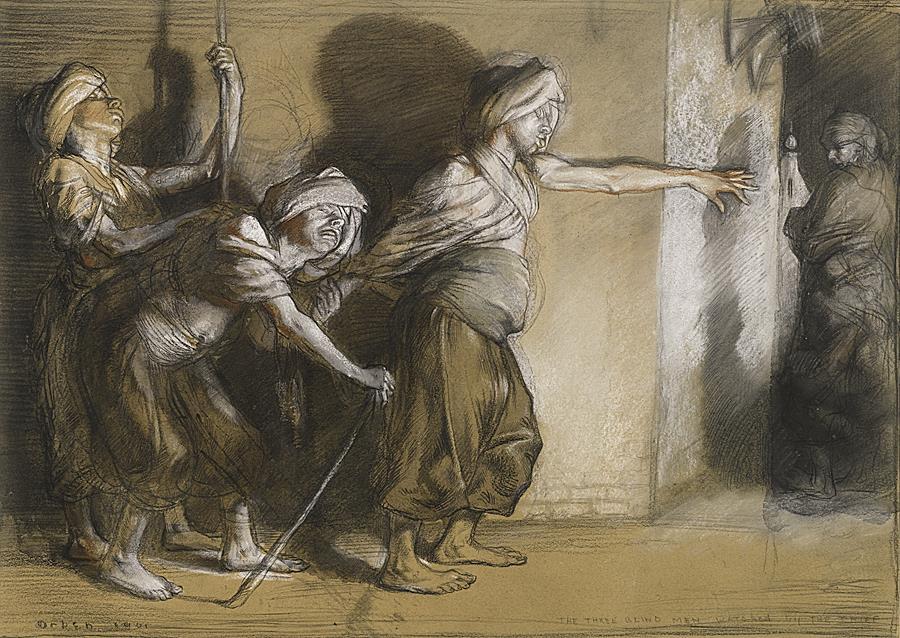 The three blind men (Arabian nights)